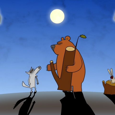 Eagle, beaver, duck, moon, huhu - FFDL
